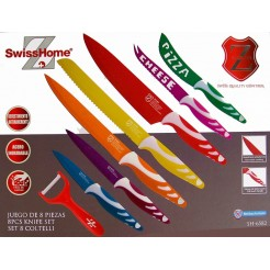 Swiss Home RVS Messenset 8 delig